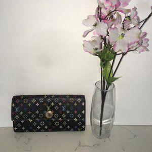 Authentic Louis Vuitton Multicolor Sarah Wallet